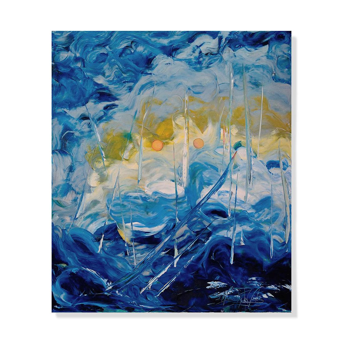 Turbini e Tempeste 60x70 cm - olio su tela 2010
