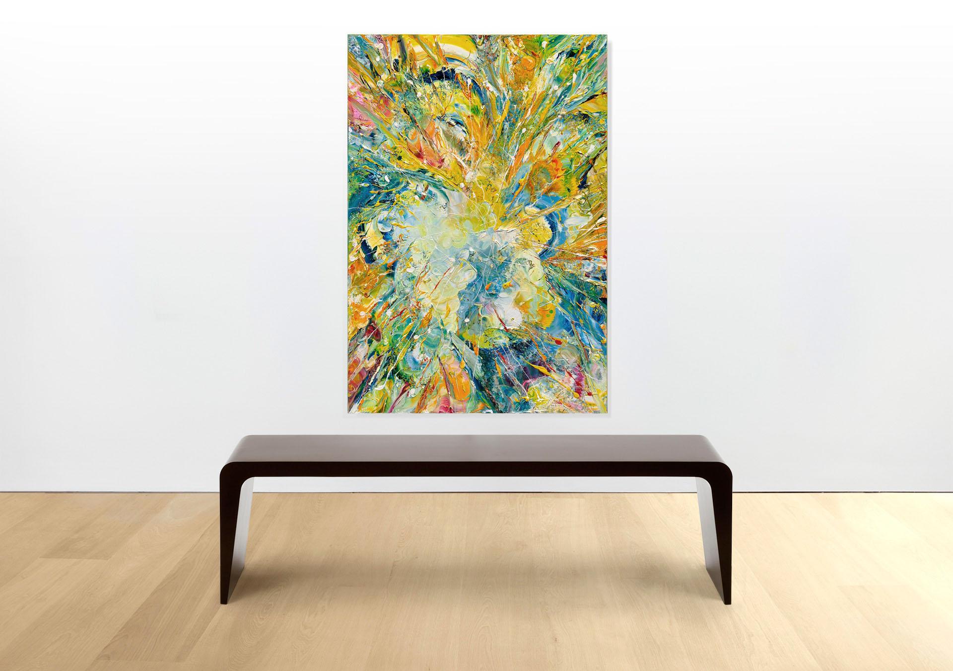 Esplosione-Di-Luce-100x70---Olio-su-tela---2014 - Sala