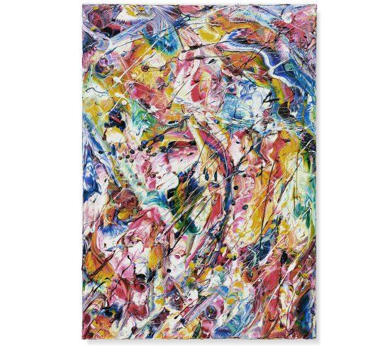 NELLA BARRIERA IN FERMENTO - Olio su tela - 100 x 70 - 2017