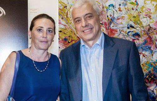 Marina di Pietrasanta Villa La Versiliana Maria Rita Vita con il Dott. Carlo Motta, responsabile Editoriale Giorgio Mondadori