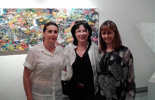 Maria Rita Vata con la Dott.ssa Luisa Pavesio capo redattore Inews in Zurigo
