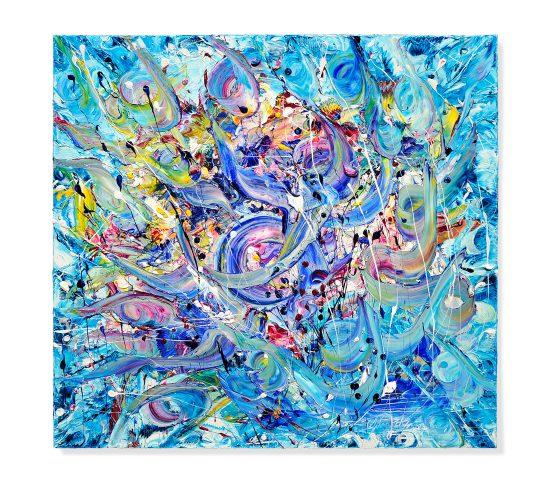 IL CANTO DELLE SIRENE - Olio su Tela - 100 x 100 - 2017
