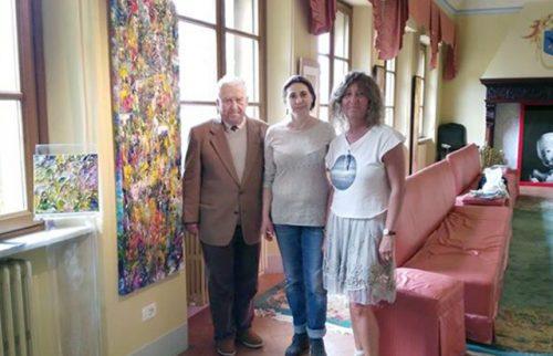 Volterra, Museo Palazzo Viti Maria Rita Vita con Umberto Viti e Maria Dolores Cattaneo