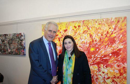 Firenze Galleria Donatello con il Presidente della Regione Eugenio Giani