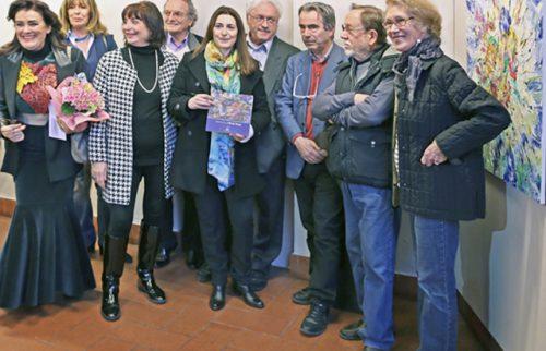 Firenze – Galleria Donatello Maria Rita Vita con gli Artisti dello Storico Gruppo Donatello e Lodovico Gierut