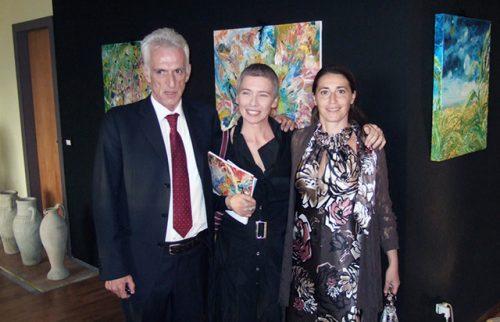 Berceto (PR) Maria Rita Vita con il Sindaco Luigi Lucchi e l'On. Irene Pivetti