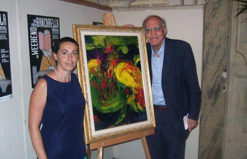 Pontremoli Premio Bancarella Maria Rita Vita con il Prof. Giuseppe Benelli