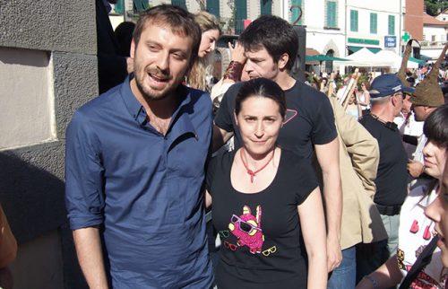 Fivizzano Evento Regionale Sapori Maria Rita Vita con il Cantante Cesare Cremonini